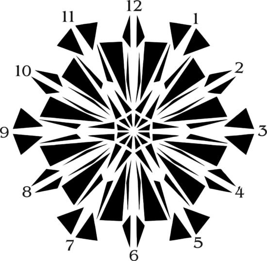 Black Abstract Wall Clock Vector Art jpg Image