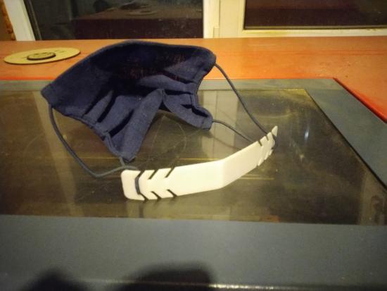 Laser Cut Holder For Medical Mask 2mm Plastic DXF File