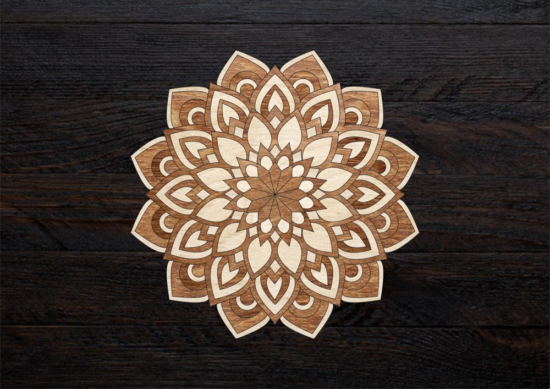 Laser Cut Layered Mandala Free Vector