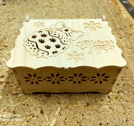 Christmas, Eve Box, DXF File Laser Cut, New Year, Gift Box, Christmas, Eve Box DXF File